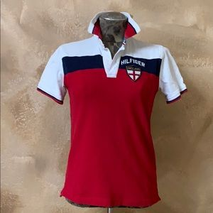 "IZOD Red White Blue Crest ""England"" Logo Polo"